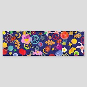 Boho floral Bumper Sticker