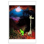 Giraffe and Frog Art Deco Abstract Fantasy Print P