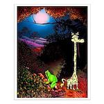 Giraffe and Frog Art Deco Abstract Fantasy Print S