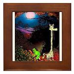 Giraffe and Frog Art Deco Abstract Fantasy Print F