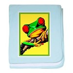 Abstract Fantasy Art Deco Tree Frog baby blanket