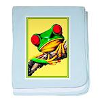 Abstract Fantasy Art Deco Tree Frog baby blanket