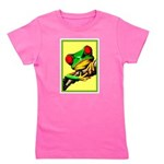 Abstract Fantasy Art Deco Tree Frog Girl's Tee