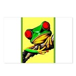 Abstract Fantasy Art Deco Tree Frog Postcards (Pac
