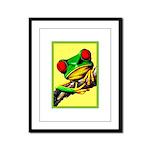 Abstract Fantasy Art Deco Tree Frog Framed Panel P