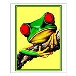Abstract Fantasy Art Deco Tree Frog Small Poster
