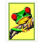 Abstract Fantasy Art Deco Tree Frog Small Poster
