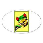 Abstract Fantasy Art Deco Tree Frog Sticker