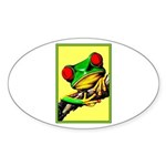 Abstract Fantasy Art Deco Tree Frog Sticker