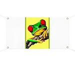 Abstract Fantasy Art Deco Tree Frog Banner