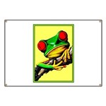 Abstract Fantasy Art Deco Tree Frog Banner
