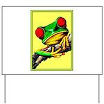 Abstract Fantasy Art Deco Tree Frog Yard Sign