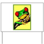 Abstract Fantasy Art Deco Tree Frog Yard Sign