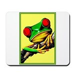 Abstract Fantasy Art Deco Tree Frog Mousepad