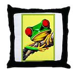 Abstract Fantasy Art Deco Tree Frog Throw Pillow