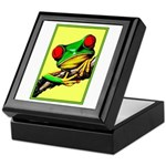 Abstract Fantasy Art Deco Tree Frog Keepsake Box