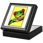 Abstract Fantasy Art Deco Tree Frog Keepsake Box