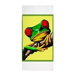 Abstract Fantasy Art Deco Tree Frog Beach Towel