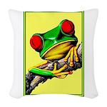 Abstract Fantasy Art Deco Tree Frog Woven Throw Pi