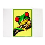 Abstract Fantasy Art Deco Tree Frog 5'x7'Area Rug