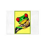 Abstract Fantasy Art Deco Tree Frog 5'x7'Area Rug