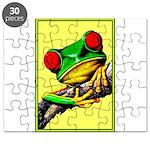 Abstract Fantasy Art Deco Tree Frog Puzzle