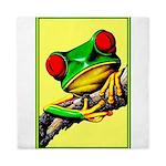 Abstract Fantasy Art Deco Tree Frog Queen Duvet