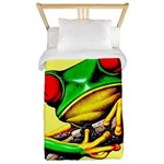 Abstract Fantasy Art Deco Tree Frog Twin Duvet