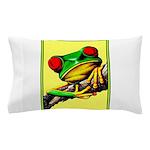 Abstract Fantasy Art Deco Tree Frog Pillow Case