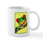Abstract Fantasy Art Deco Tree Frog Mugs