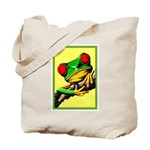 Abstract Fantasy Art Deco Tree Frog Tote Bag