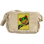 Abstract Fantasy Art Deco Tree Frog Messenger Bag