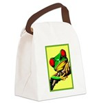 Abstract Fantasy Art Deco Tree Frog Canvas Lunch B