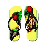 Abstract Fantasy Art Deco Tree Frog Flip Flops