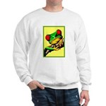 Abstract Fantasy Art Deco Tree Frog Sweater
