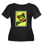 Abstract Fantasy Art Deco Tree Frog Plus Size T-Sh
