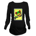 Abstract Fantasy Art Deco Tree Frog Long Sleeve Ma