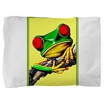 Abstract Fantasy Art Deco Tree Frog Pillow Sham