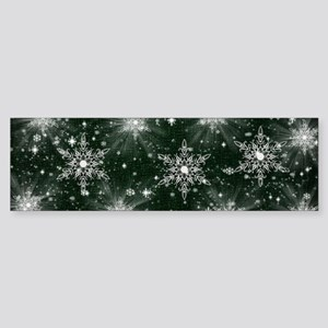 festive christmas pattern for wrapp Bumper Sticker