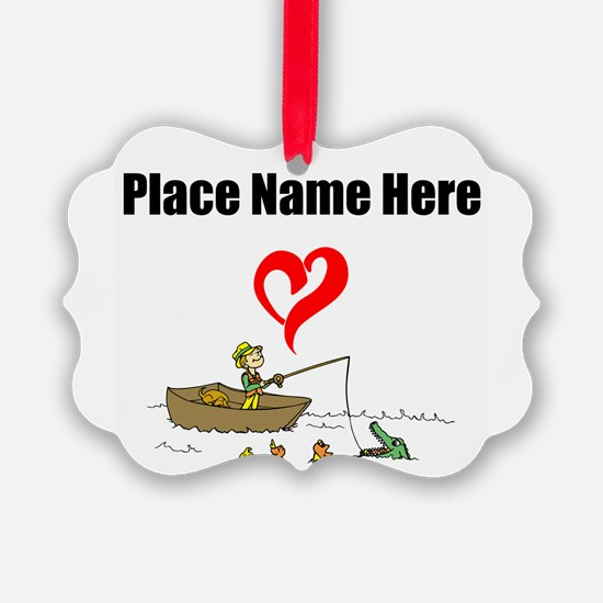 Loves Fishing Ornament