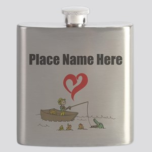 Loves Fishing Flask