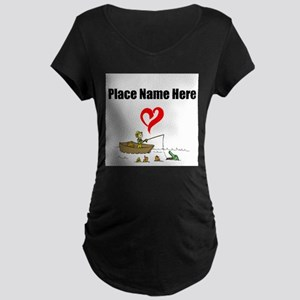 Loves Fishing Maternity T-Shirt