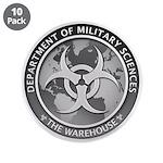 """Dms Logo The Warehouse 300 3.5"""" Button (10 Pa"""