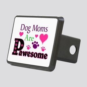 Dog Moms Are Pawesome Rectangular Hitch Cover