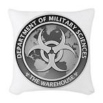 Dms Logo The Warehouse 300 Woven Throw Pillow