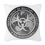Dms Logo The Warehouse 300 Woven Throw Pillow
