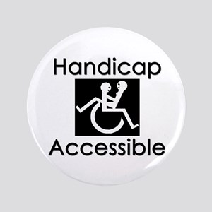 """Handicap Accessible"" 3.5"" Button"