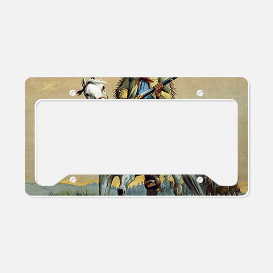 Buffalo Bill Vintage cowboy License Plate Holder