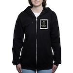 Keep Calm and Be Warrior Smart Women's Zip Hoodie