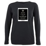 Keep Calm and Be Warrior Smart Plus Size Long Slee
